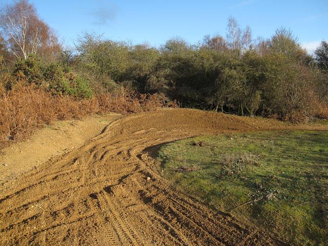Scrambling bike tracks