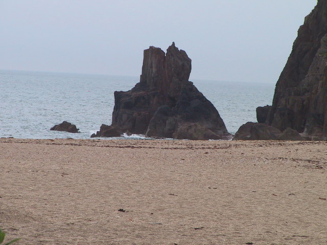 Sea Stack at the western end of Blackpool Sands
