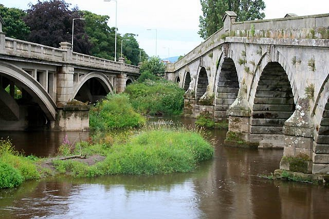 The two bridges at Atcham