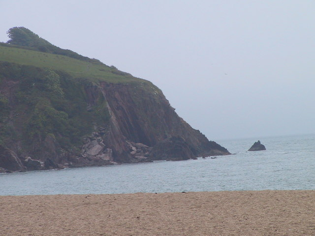 Cliff at the eastern end of Blackpool Sands