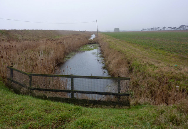 Drainage channel south of Shingle Street