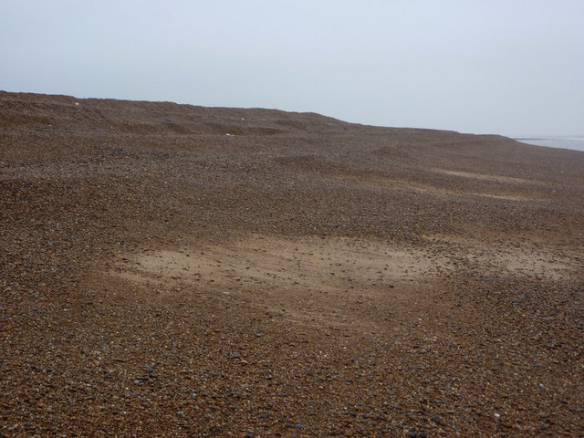 Huge shingle bank at Shingle Street