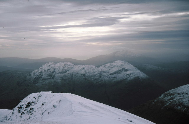 Looking down the south ridge of Stob Coire an Lochain