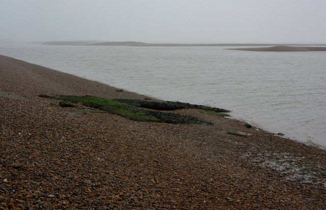 Shingle at the mouth of the River Ore