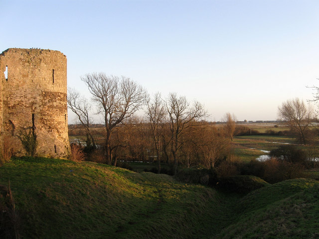 Bastion, Inner Keep, Pevensey Castle