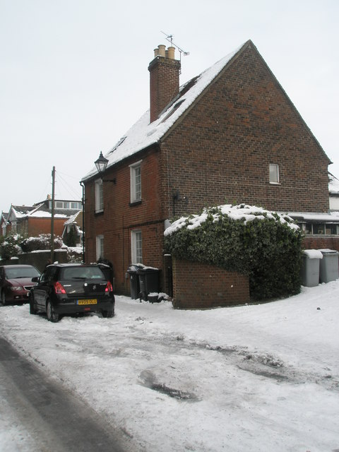 Cottages in a snowy South Street
