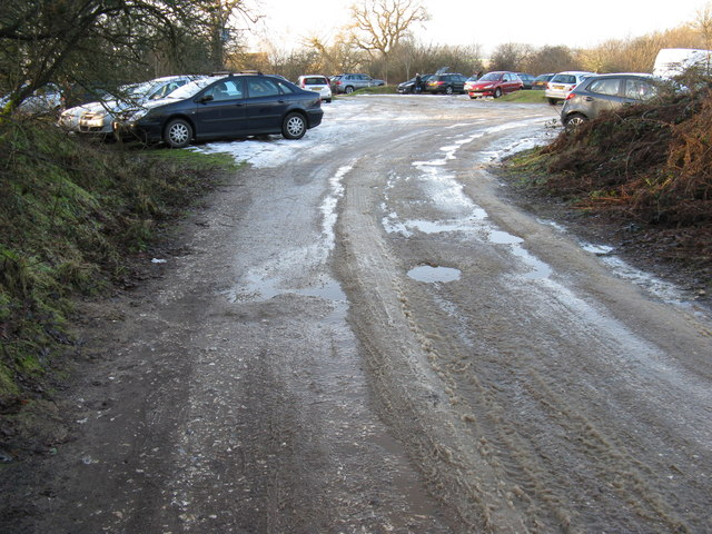 Middle of three car parks at RSPB Pulborough Brooks