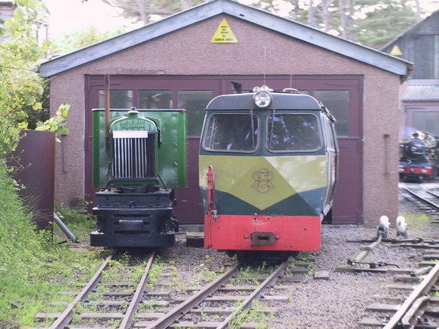 Diesel units, Ravenglass Station