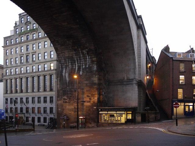 Railway viaduct over Side