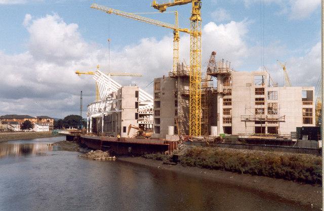Cardiff Millennium Stadium, under construction