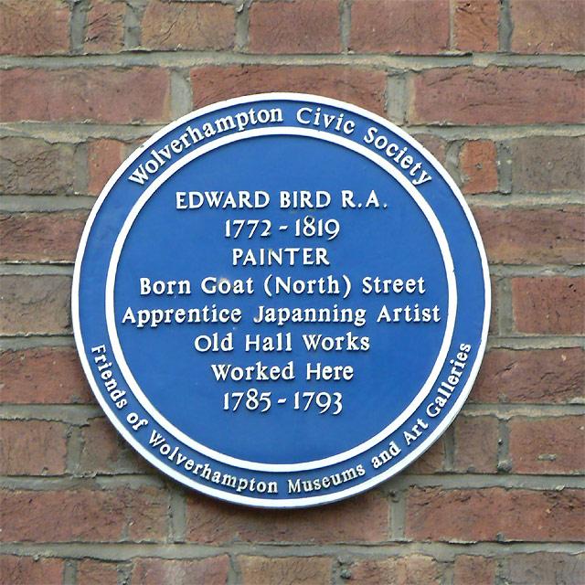 Edward Bird Plaque in Old Hall Street, Wolverhampton