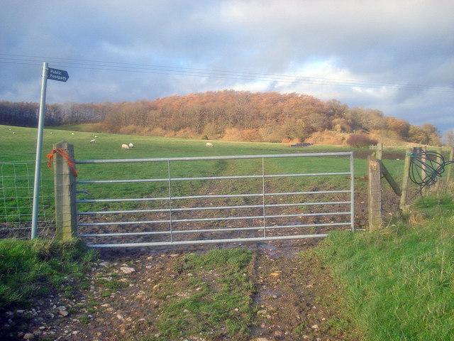 Gateway north of Naunton Farm