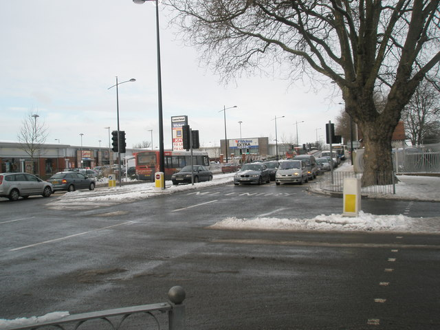 Looking from Elm Lane into a snowy Park Road North