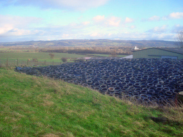 Silage clamp at Naunton Farm