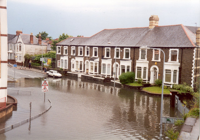 Flooding in Cardiff