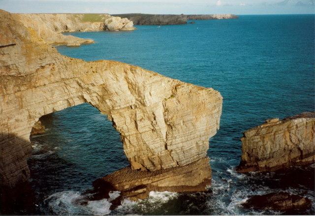 The Green Bridge arch - Sept 1991