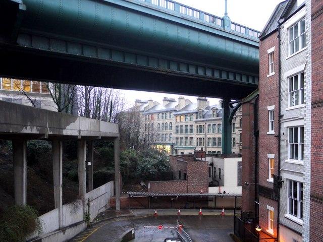 Under the Tyne Bridge (north section)