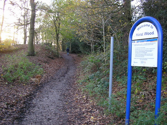 Entrance to Hirst Wood