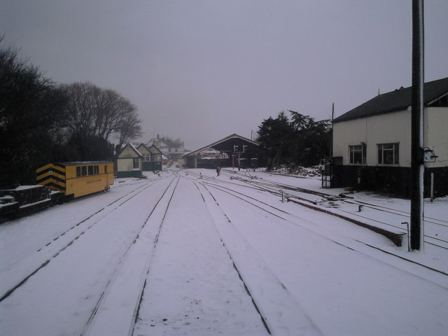 Looking towards New Romney station
