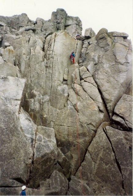 Climbing on Carn Barra