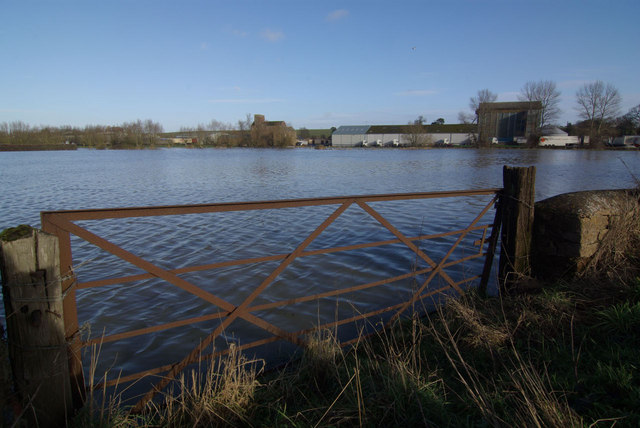 Flooded fields near Twyford