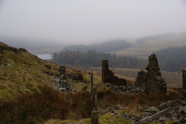 Ruined farmhouse above Ogden Reservoir