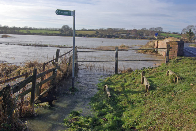 River Cherwell in flood