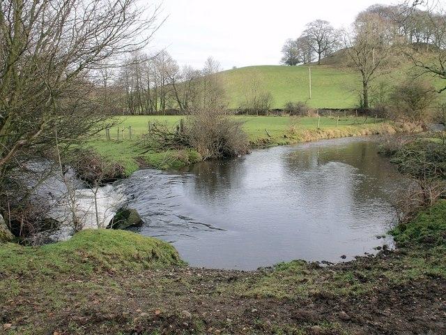 Weir on the Shawend Burn