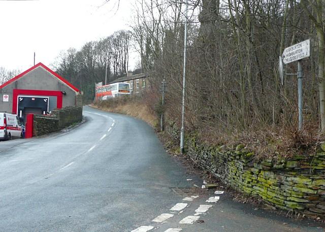 Signpost, Storthes Hall Road, Kirkburton