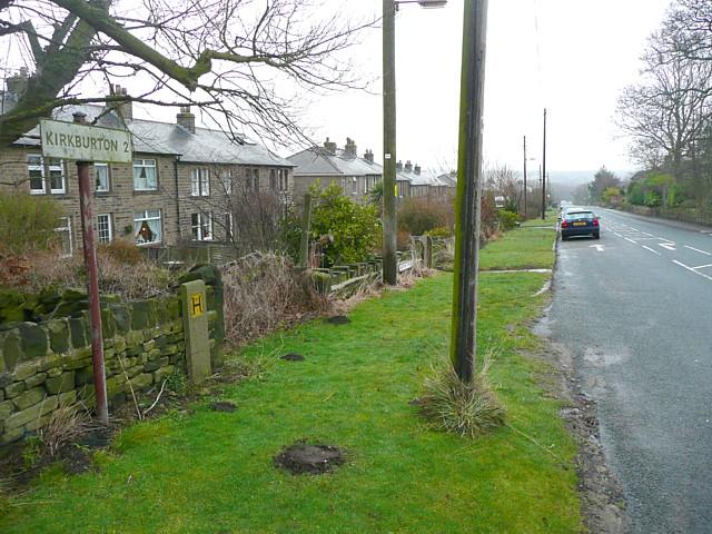 Signpost, Stocks Moor Road, Thurstonland