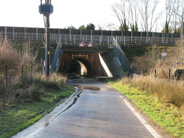 Double bridge over Blind Lane