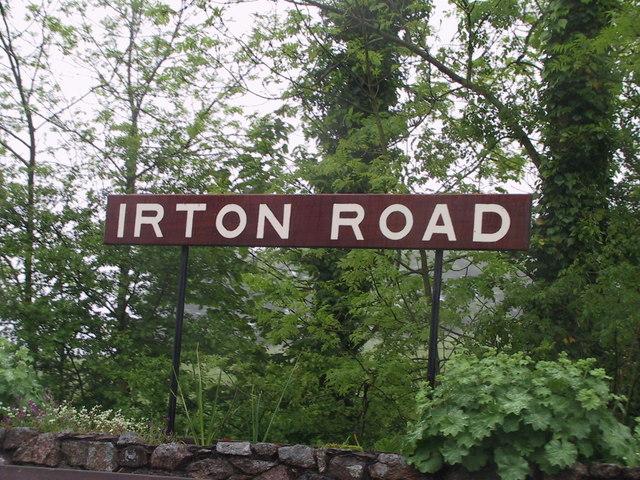 Irton Road Station sign