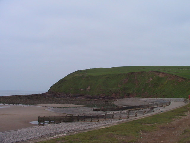 Cliffs north of the beach, St Bees