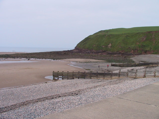 Headland north of the beach, St Bees