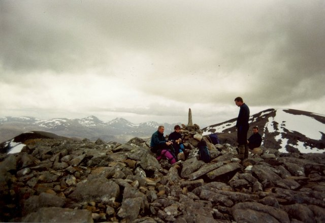 Summit cairn on Cona' Mheall