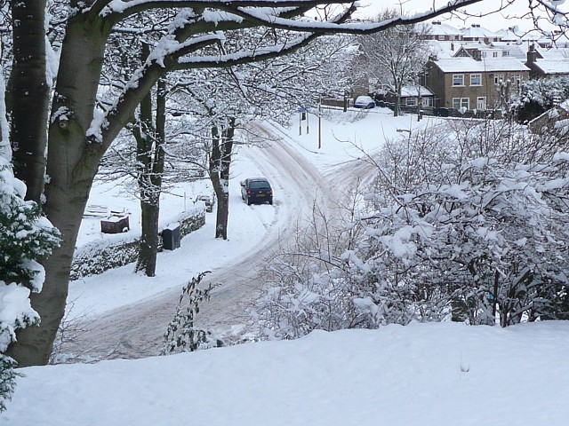 Delf Hill after the snowfall