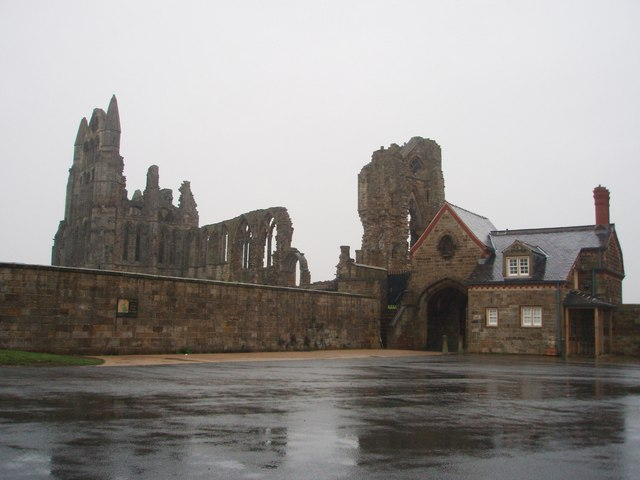 Whitby Abbey on a rainy day