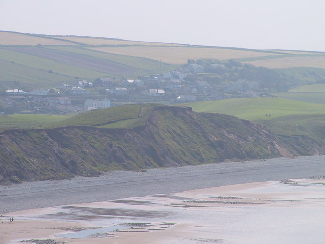 Cliffs behind the beach, St Bees