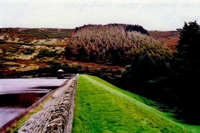 West Baldwin Reservoir Dam on the River Glass