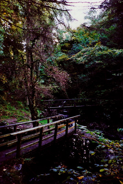 Glen Helen - Two foot bridges near east end