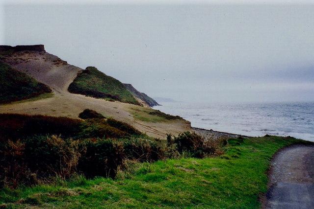Glen Mooar - Coastline at west end of road