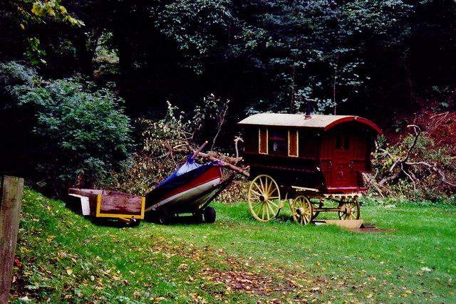 Glen Mooar - Trailer, boat, and horse drawn wagon