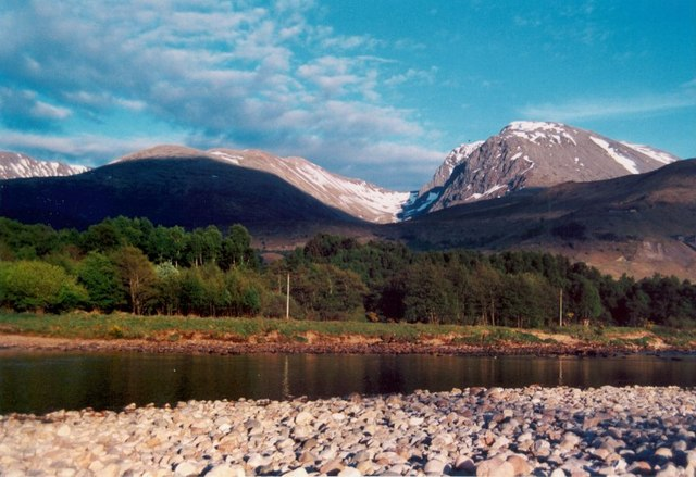 The River Lochy and Coire Leis on The Ben