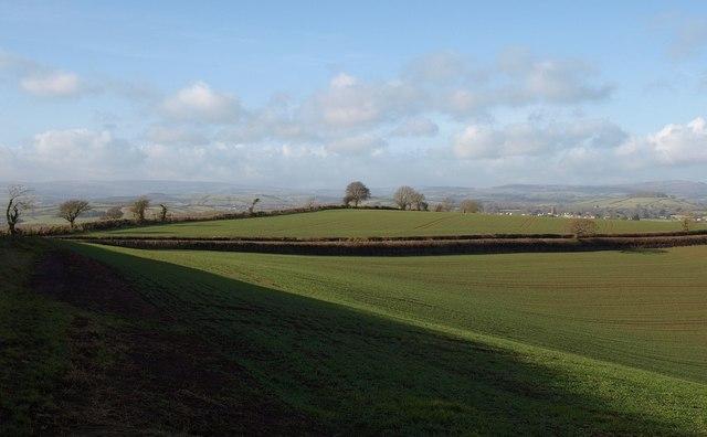 Fields on Brownscombe Hill
