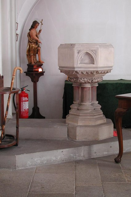 St Augustine, Archway Road, Highgate, London N6 - Font