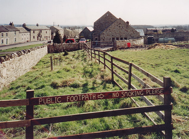 New fence and sign, Boldron footpath