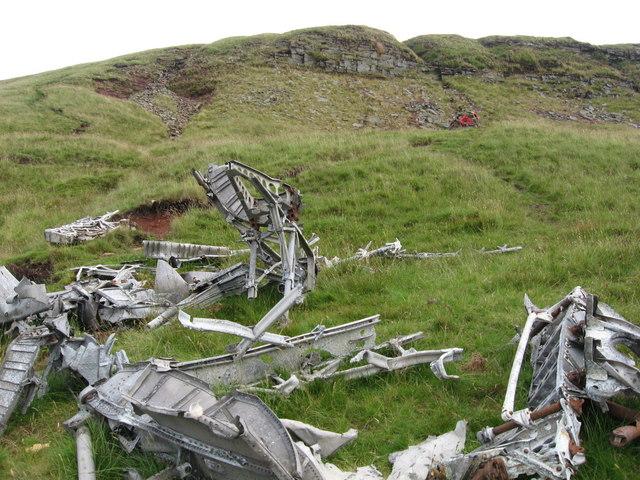 Crash site of Wellington bomber R1465