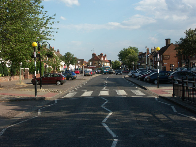 Looking south along Stevenage High Street