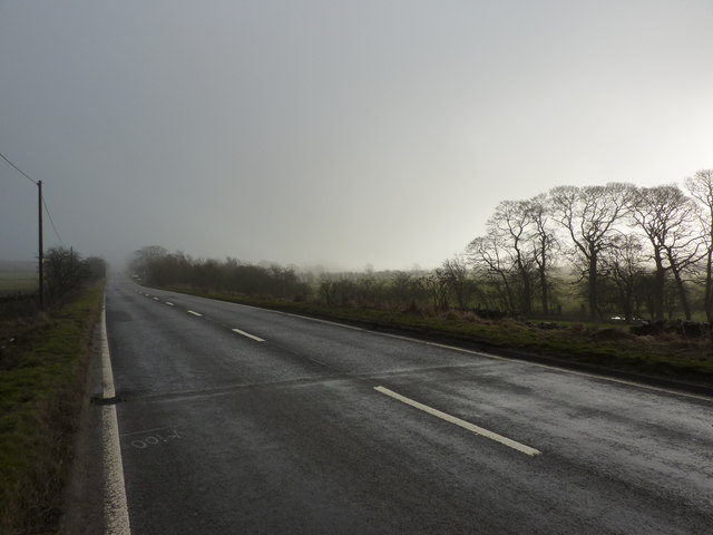 An empty main road