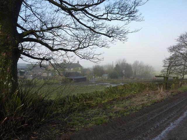 Muddy track by Nether Rodknoll Farm
